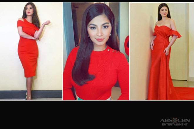 12 times Angel Locsin wore the color of 'Red Lady'