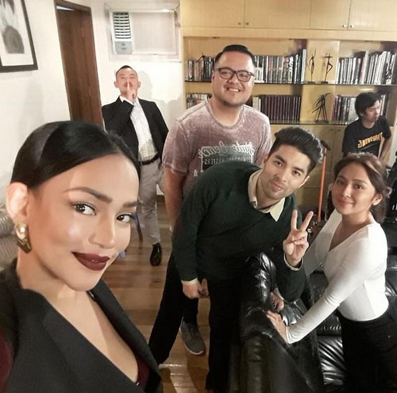 On the set of La Luna Sangre: Erika Padilla as Mirriam