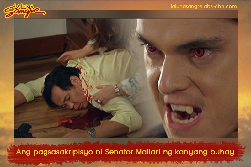 Sandrino's sinister, merciless reign as the supreme vampire on La Luna Sangre